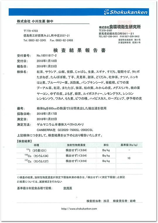 検査結果報告書2017