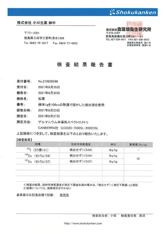 検査結果報告書2021
